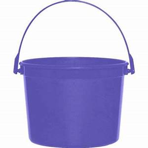 Purple Plastic Bucket 6 1/4in x 4 1/2in - Party City