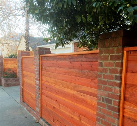 brick and wood fence pictures brick and wood fencing brick pillar pinterest wood fences fences and bricks