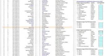 uefa europa league fixtures  scoresheet