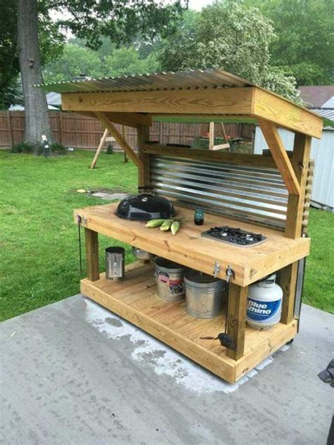 diy grill station ideas    grilling easier