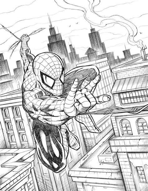 spiderman swinging   city  robertmarzullodeviantartcom  atdeviantart spiderman art