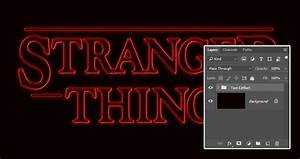 how to create a 39stranger things39 inspired text effect in With stranger things lettering