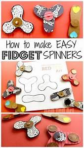 Easy Fidget Spinner Diy  Free Template