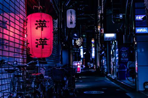 lit  alleyway  kyoto japan hd photo  jase bloor