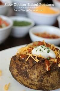 Slow Cooker Baked Potatoes Recipe — Dishmaps