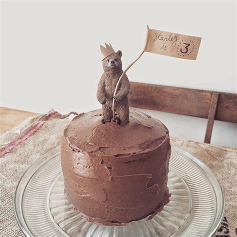 bear birthday cake topper children in 2019 birthday
