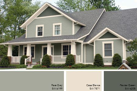 gray green exterior paint remodel ideas