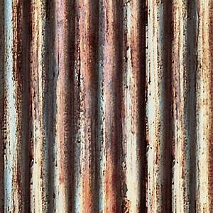 Dirty rusted corrugated metal texture seamless 10005