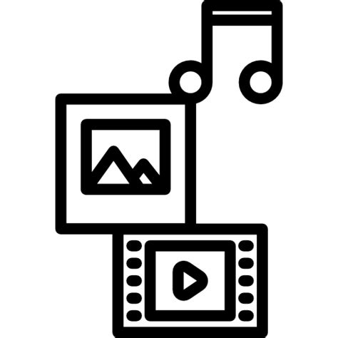 multimedia icons   files  png eps svg format