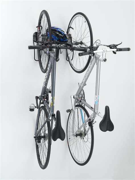 bike wall rack gearup the wall 2 bike vertical rack all terrain cycles
