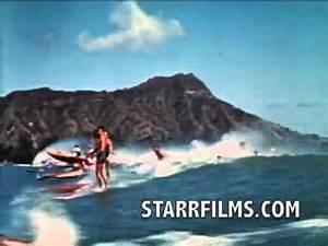 Duke Kahanamoku Surfing 1939 Color Stand Up Paddleboard