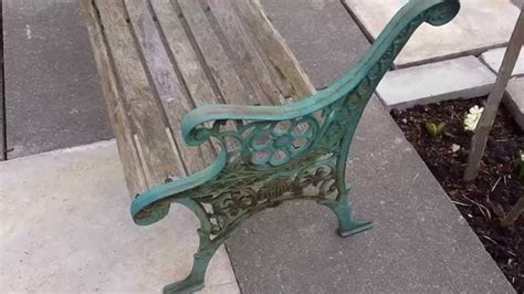 chair durable cast iron bench ends  outdoor