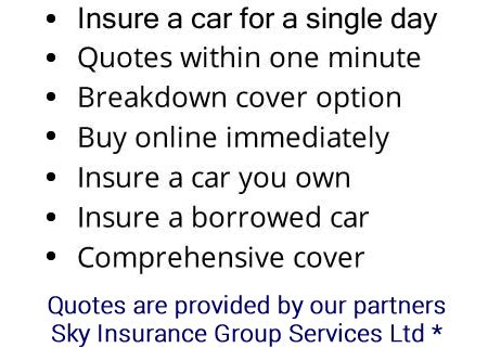 car insurance quotes for drivers uk test drive insurance