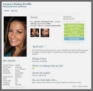 dating site profile introduction With dating site description template