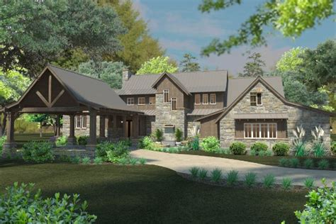 surprisingly house courtyard this mountain house plan has it all including an inviting