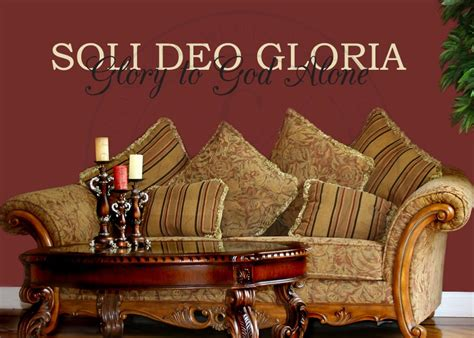 Soli Deo Gloria Vinyl Wall Statement, Vinyl, THE003