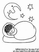 Coloring Pages Sleep Sleeping Bedtime Ocean Cartoon Adults Story Popular sketch template