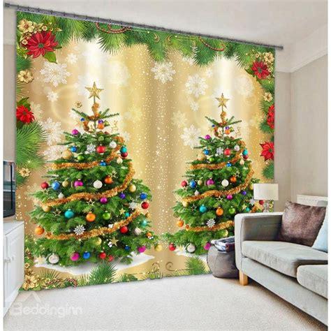 christmas trees print 3d home decor curtain beddinginn com