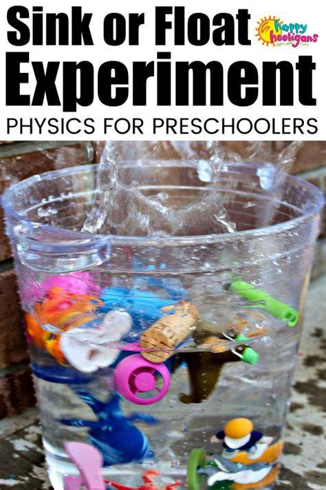sink  float experiment  toddlers  preschoolers