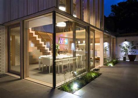 house renovation in created beautiful glass