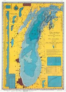 Lake Erie Depth Chart Lake Michigan 1981 The Cartography Collective Maps