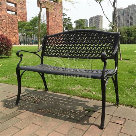 seat antique cast aluminum quality luxury