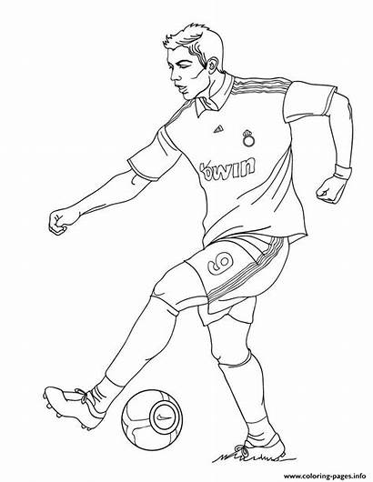 Ronaldo Coloring Cristiano Madrid Soccer Pages Printable