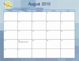 5 day monthly calendar template related keywords for Free 5 day calendar template
