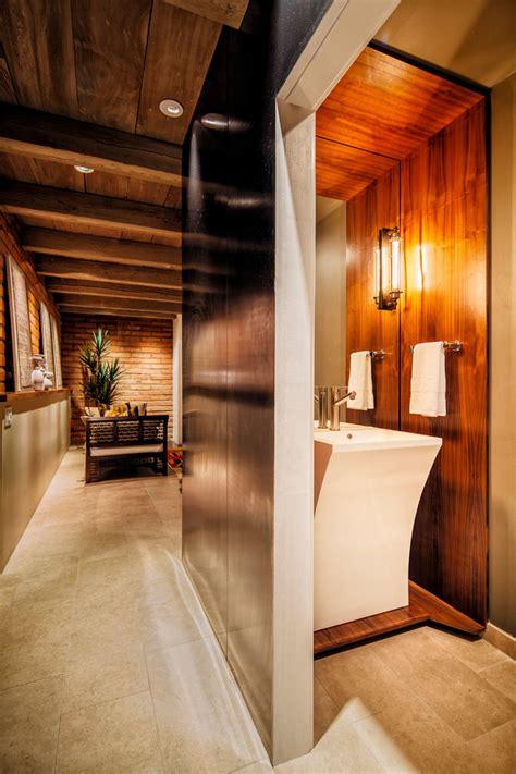 gorgeous fresca vanity  powder room southwestern
