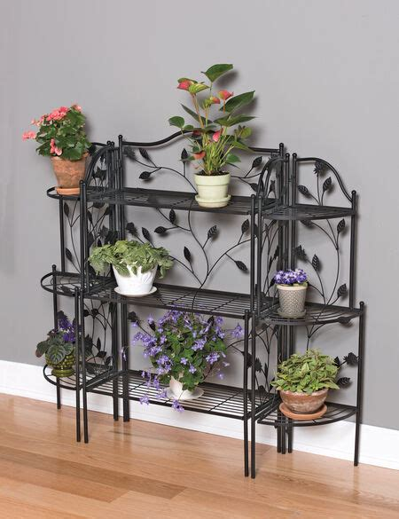 bakers rack plant stand set gardeners supply