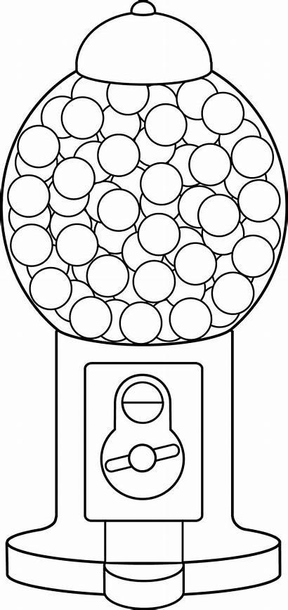 Gumball Machine Coloring Dot Printable Printablee Via