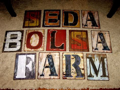 two men and a little farm hobby lobby metal sign letters