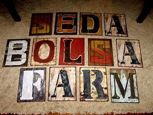 two men and a little farm hobby lobby metal sign letters With small metal letters hobby lobby
