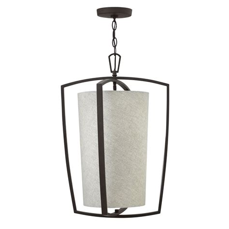 Drum L Shade Frame by Contemporary Bronze Frame Ceiling Pendant With Fabric