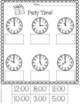 telling time worksheets kindergarten time