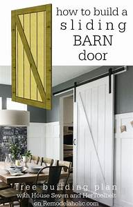 simple diy barn door tutorial remodelaholic bloglovin With barn door building plans
