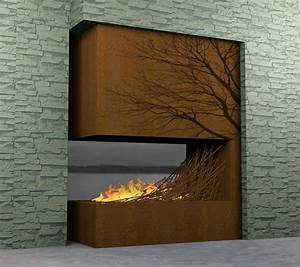 nice contemporary wooden fireplace - Iroonie com