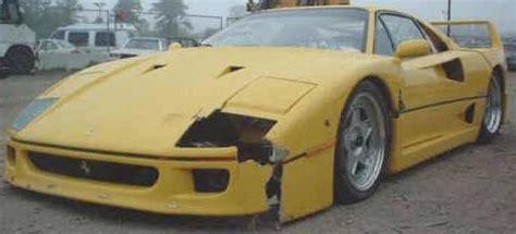 wrecked ferrari wrecked ferrari  sale  spider