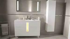 meubles de salle de bains toi et moi blanc youtube With modele salle de bain gris et blanc