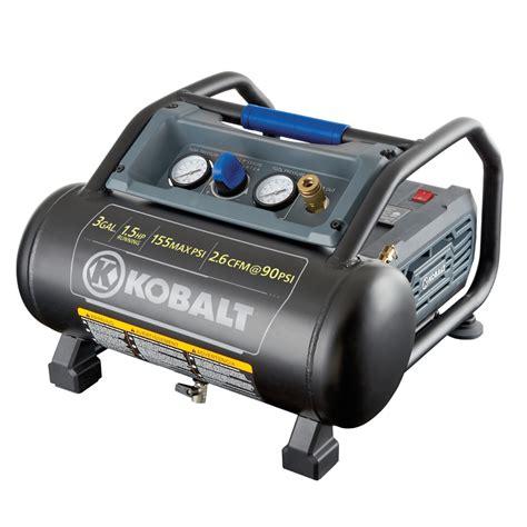 shop kobalt  gallon portable  psi electric hot dog air compressor  lowescom