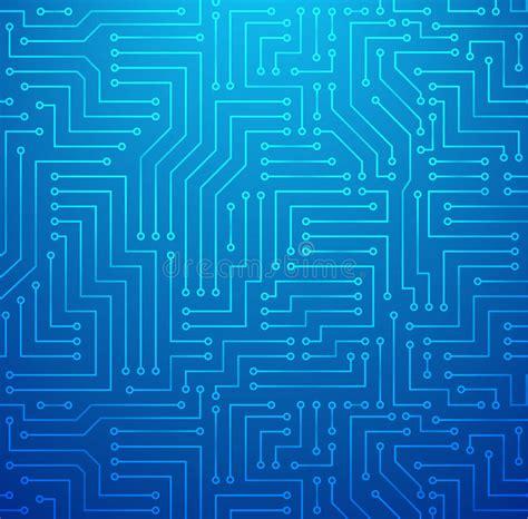 Blue Printed Circuit Board Stock Vector Image