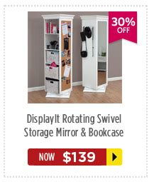 rotating swivel storage mirror and bookcase dealsdirect pre boxing day furniture sale up to 50 off