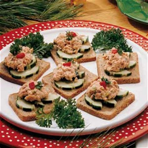 freeze ahead canapes recipes salmon canapes recipe taste of home