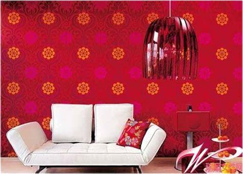Red Living Room Wallpaper : Jazz Up Your Living Room With Fabulous Wallpaper Designs