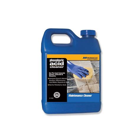 miracle sealants company tile cleaner quart miracle sealants phos qt sg phosphoric acid cleaner