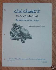 Cub Cadet 1000  U0026 1500 Series Service For 1170 1180