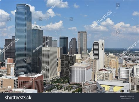 Reunion Tower Observation Deck by Dallas Tx Sep 17 Aerial View Stock Photo 496998394