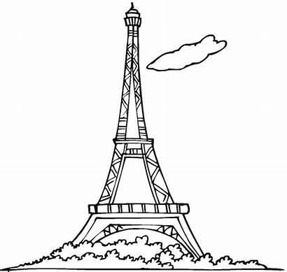 Tower Eiffel Coloring Pages Printable