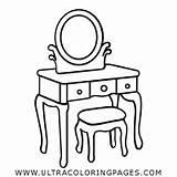 Coloring Dressing Vanity sketch template