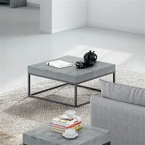 temahome petra 30x30 coffee table concrete look top With 30x30 coffee table